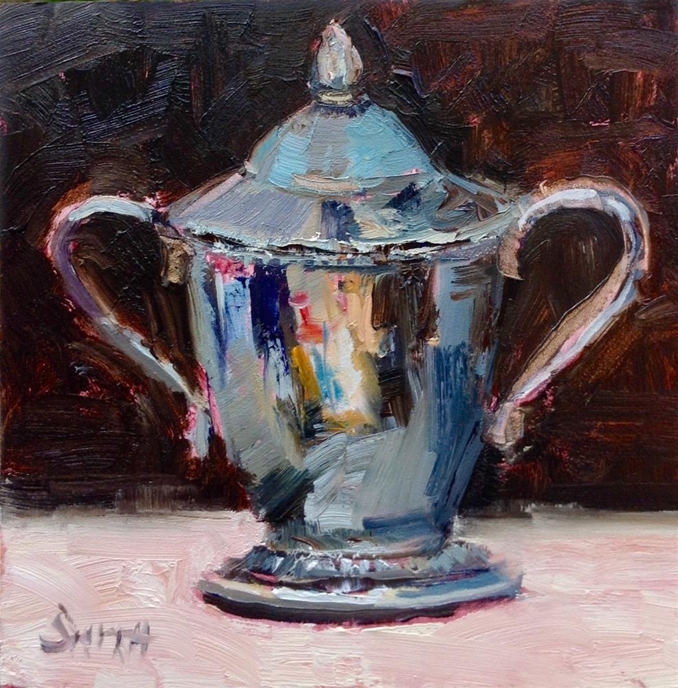 """Silver Sugar Bowl"" original fine art by Barbie Smith"