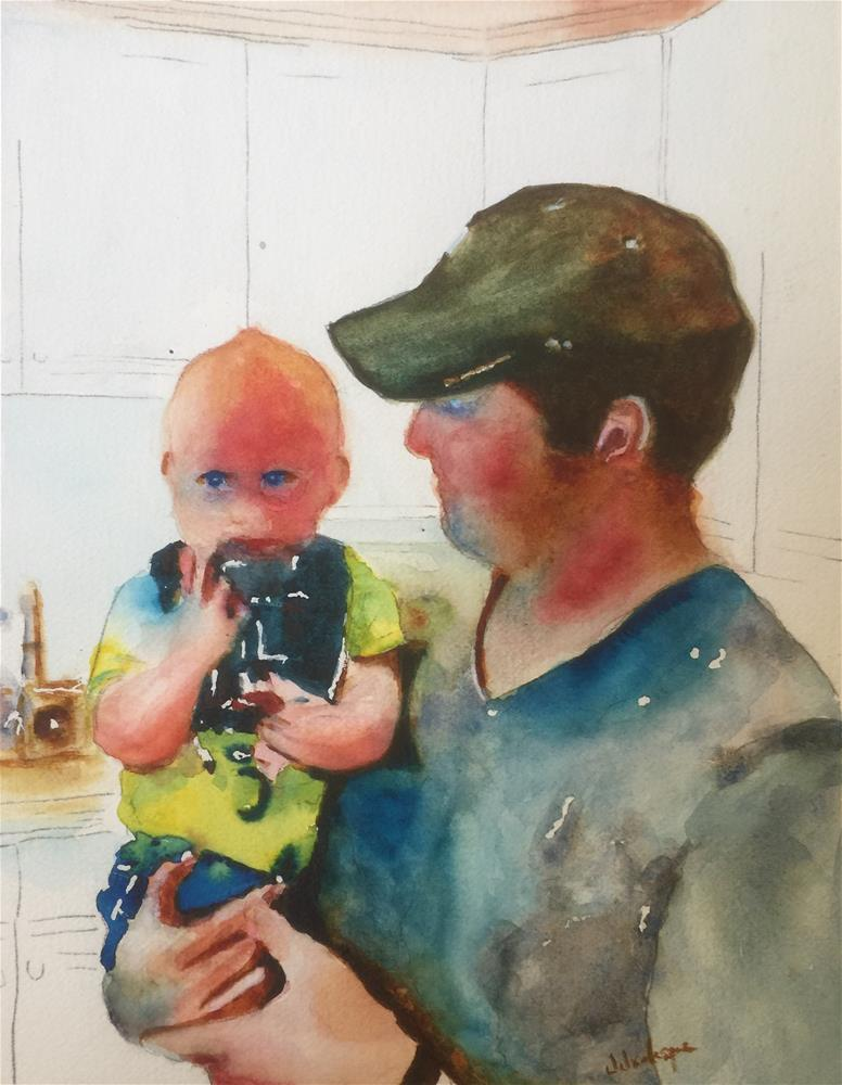 """Father and boy"" original fine art by Juan Velasquez"