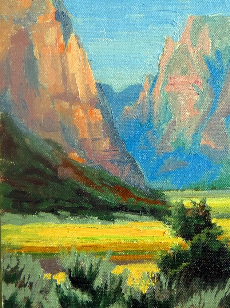 """Wyoming Valley"" original fine art by Nancy Paris Pruden"