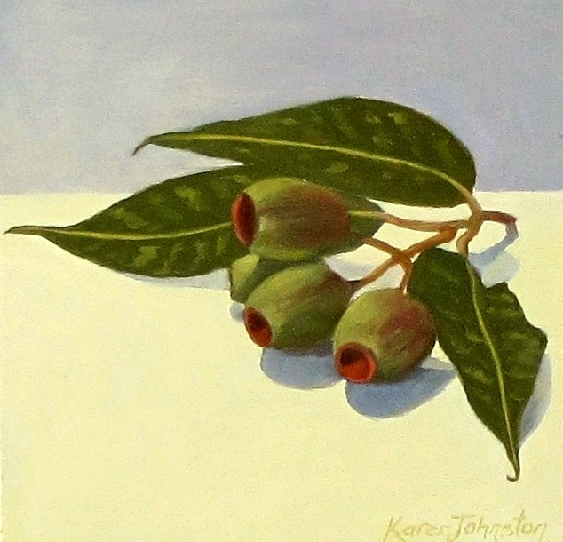 """Gumnuts"" original fine art by Karen Johnston"