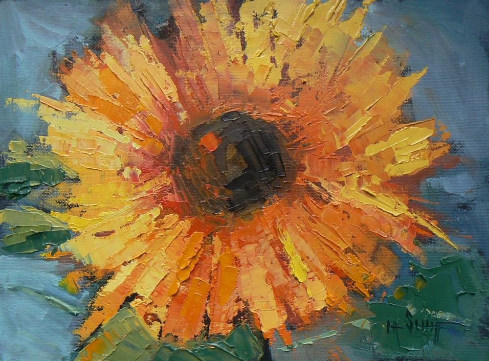 """""""Daily Painting Nature's Smiley Face 6x8, Oil"""" original fine art by Carol Schiff"""
