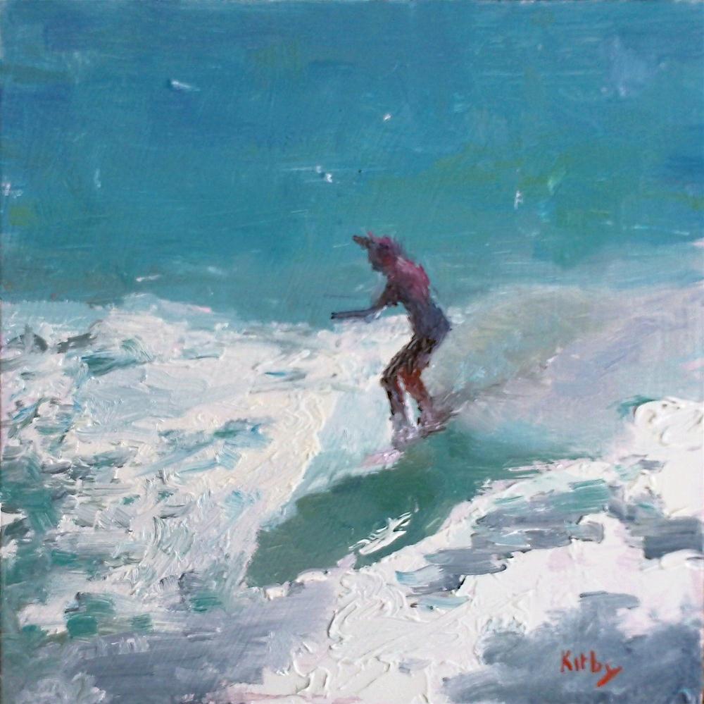 """Walking the Board"" original fine art by Randall Cogburn"