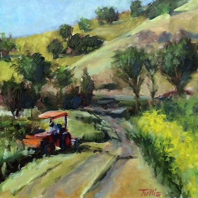 """Spring Mowing"" original fine art by John Tullis"