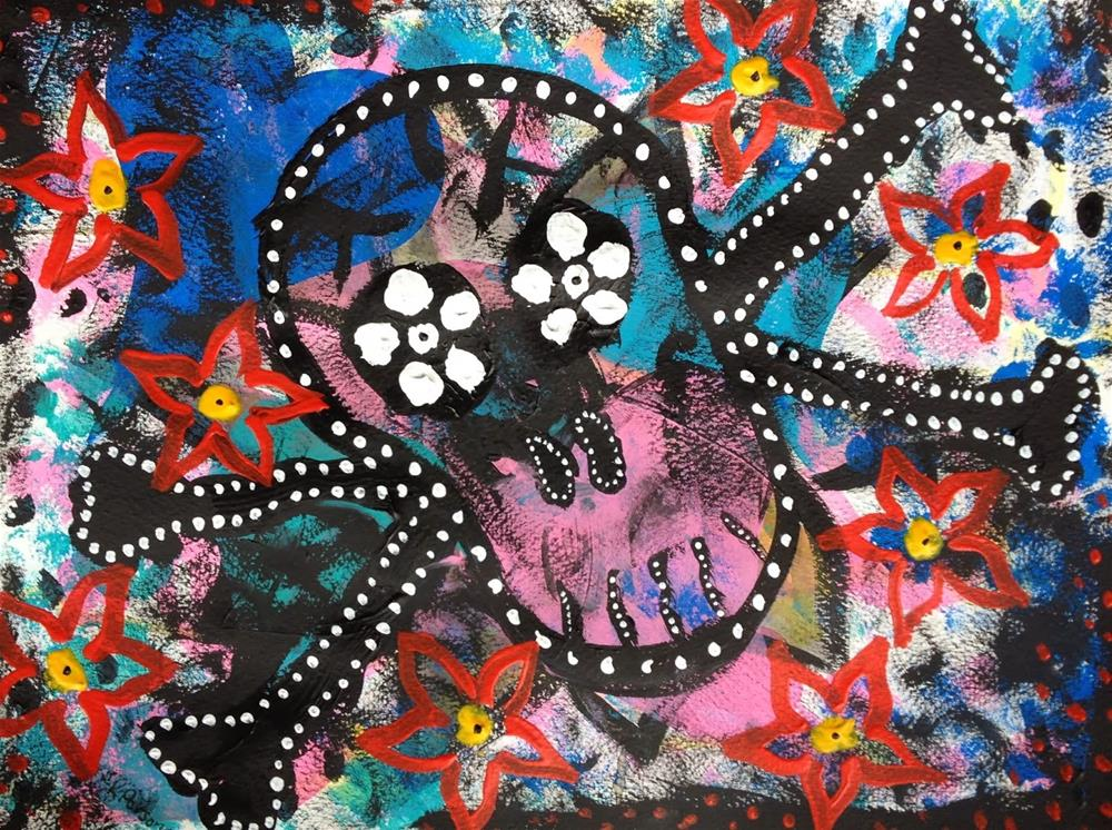 """Skull Candy"" original fine art by Kali Parsons"