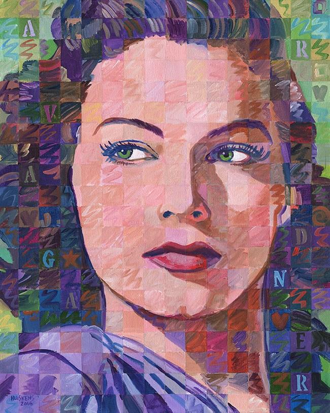 """""""Ava Gardner"""" original fine art by Randal Huiskens"""
