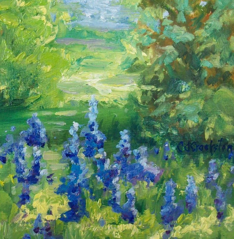 """Mountain Wild Flowers"" original fine art by Catherine Crookston"