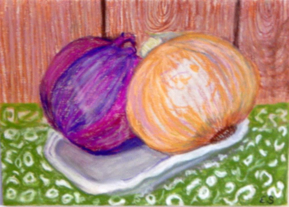 """A Couple of Onions"" original fine art by Elaine Shortall"