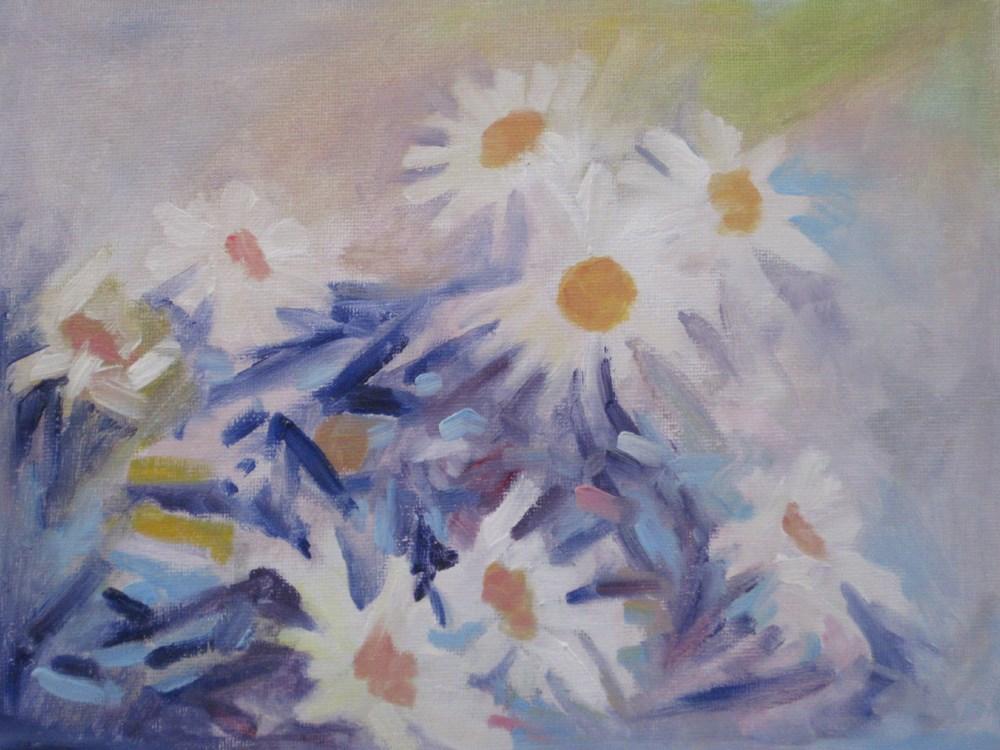 """White Flowers"" original fine art by Julia Lu"