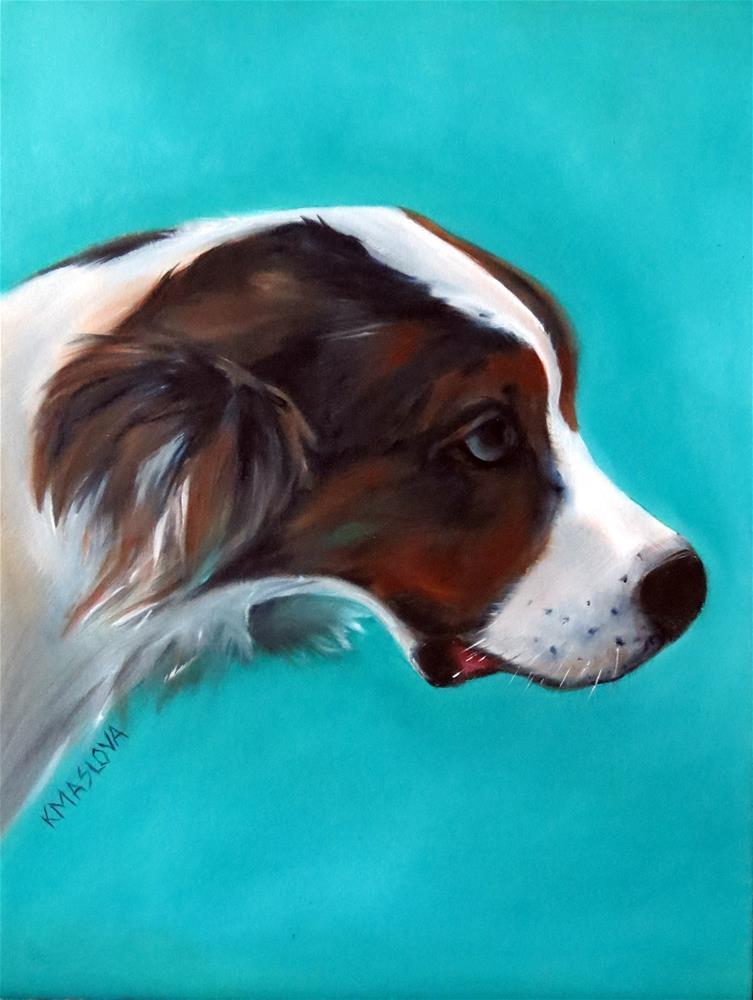 """Clyde"" original fine art by Kulli Maslova"