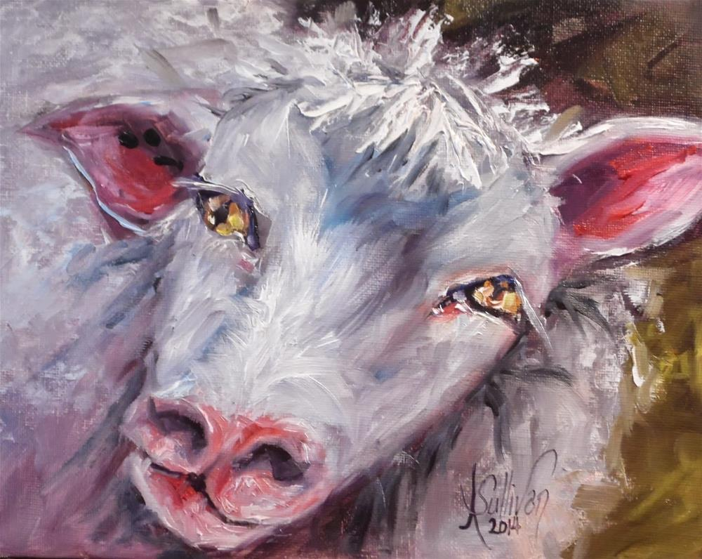 """Got My Eye On You sheep painting by Alabama Artist Angela Sullivan"" original fine art by Angela Sullivan"