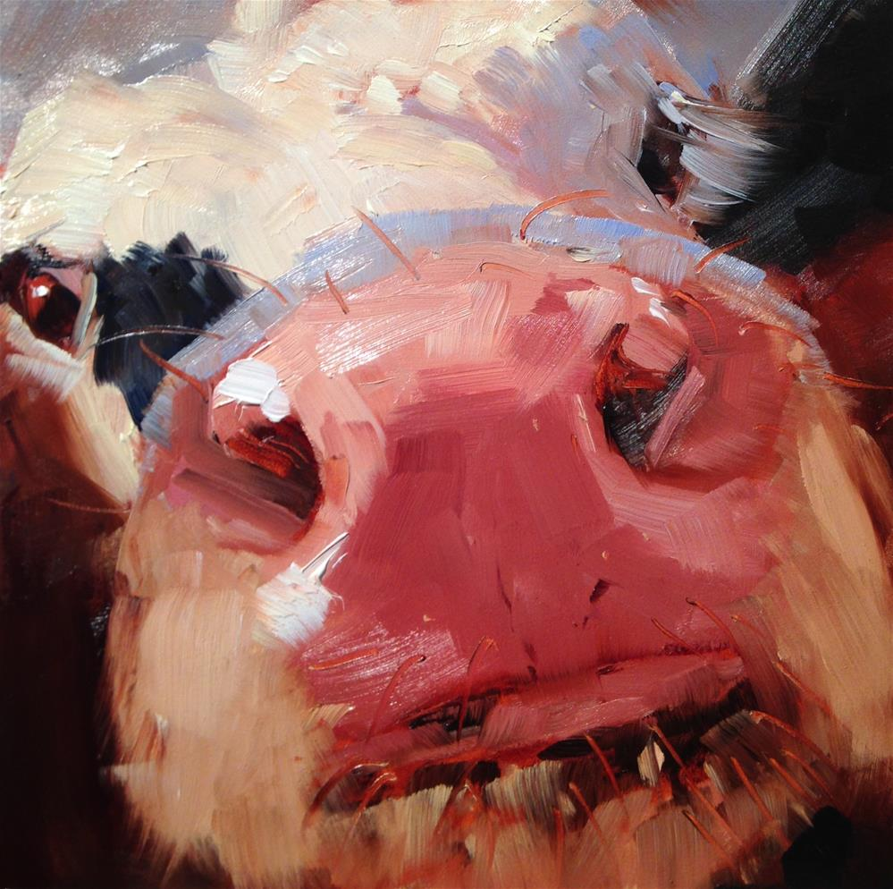 """#220 Mad Cow"" original fine art by Patty Voje"
