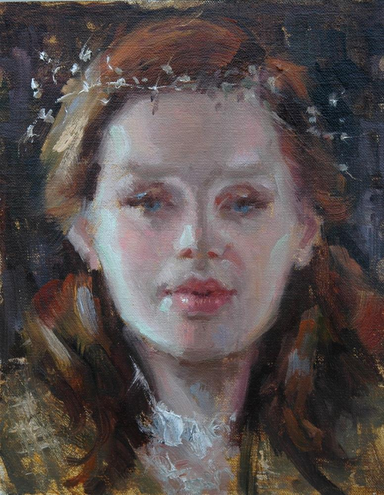 """Baby's Breath"" original fine art by Johanna Spinks"