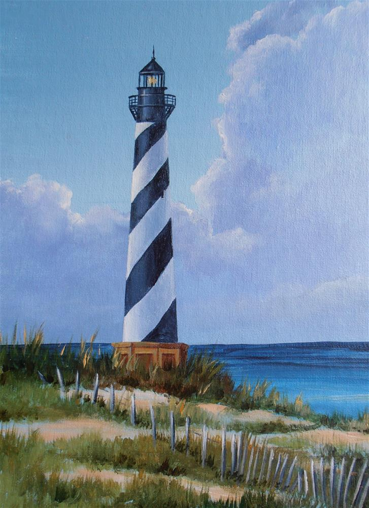 """Cape Hatteras"" original fine art by Terri Nicholson"