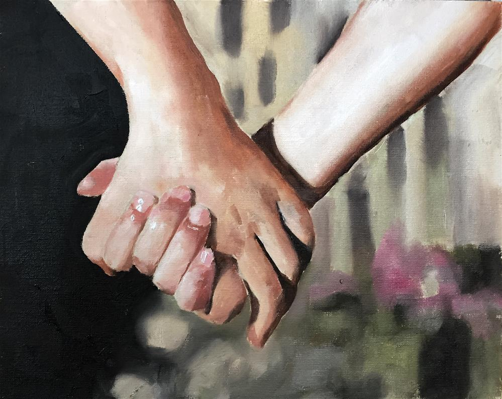 """Holding Hands"" original fine art by James Coates"