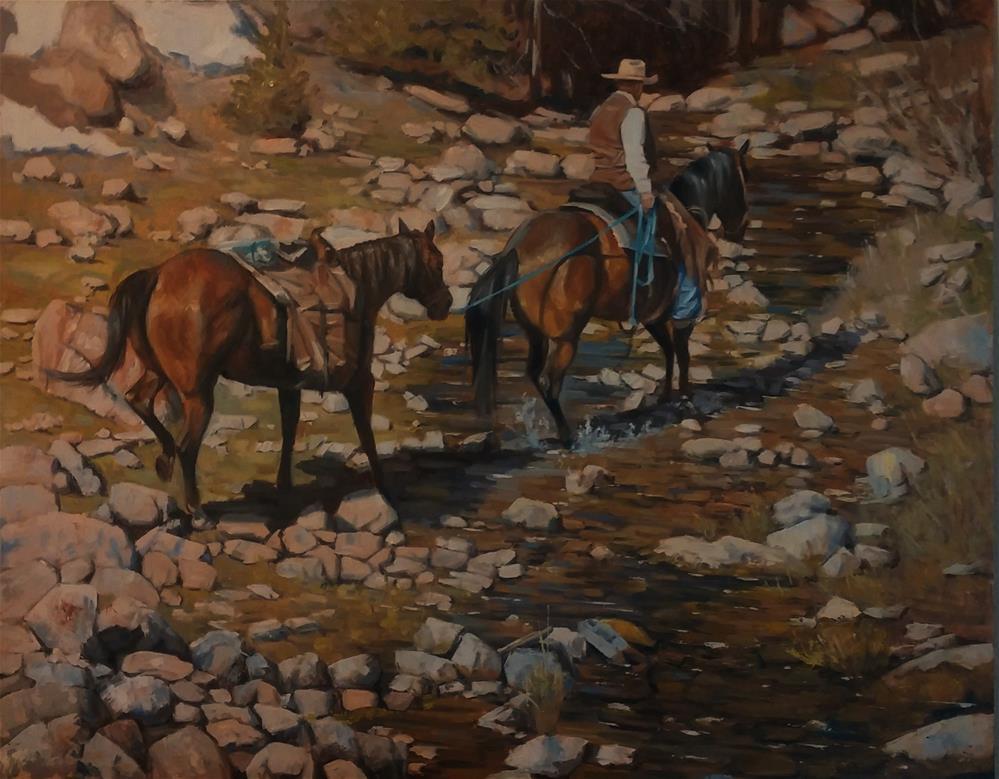 """High Mountain Crossing"" original fine art by Rick Kennington"