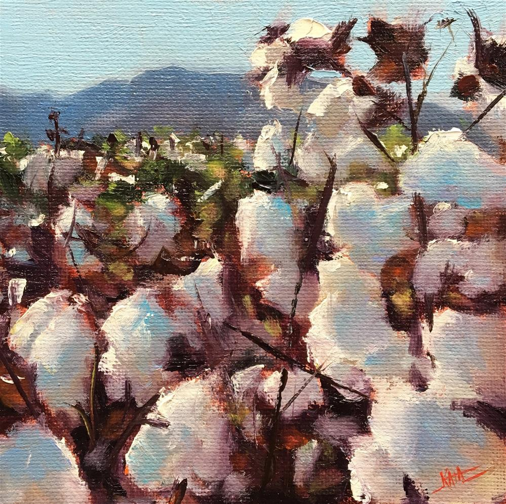 """Cotton III"" original fine art by Kaia Thomas"