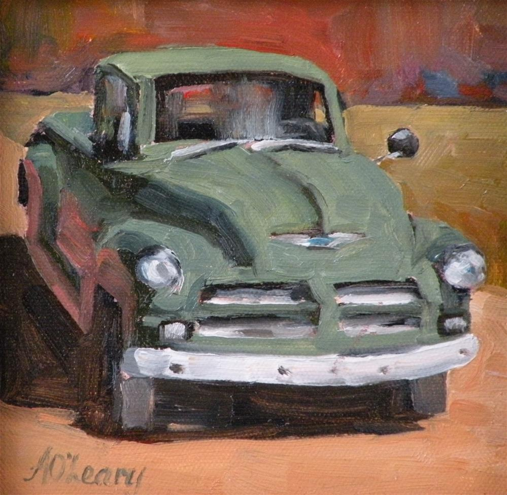 """The Gardeners Truck"" original fine art by Alice O'Leary"