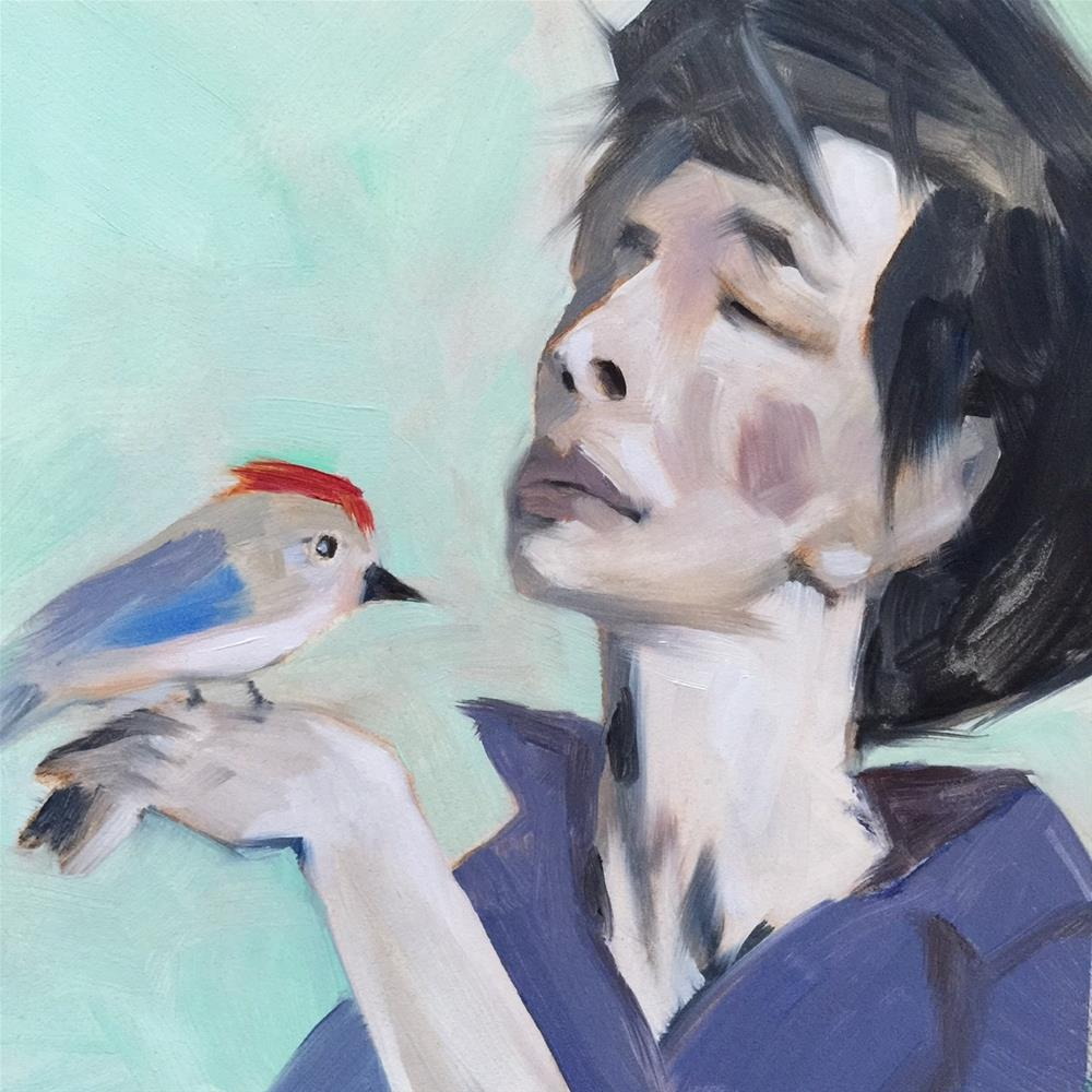 """55 Yo Birdy"" original fine art by Jenny Doh"