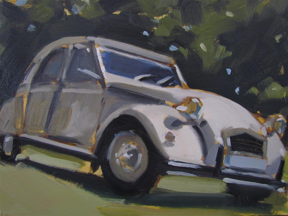 """citroen"" original fine art by gilles Poulizac"