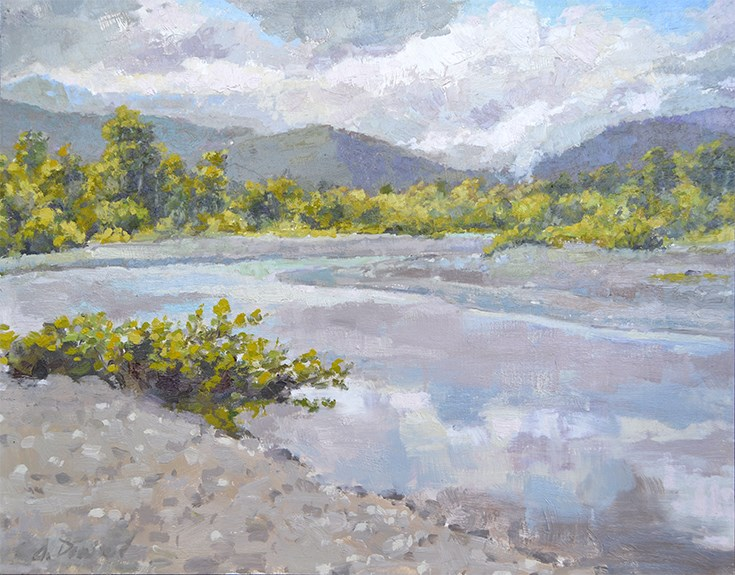 """Mad River Bend"" original fine art by Andrew Daniel"