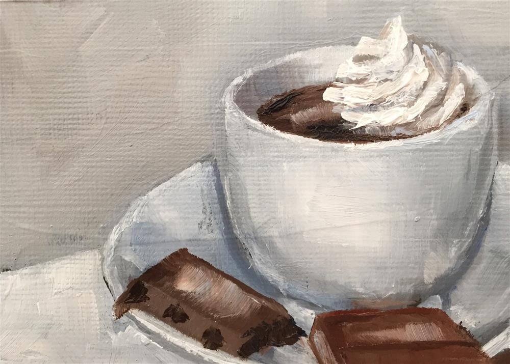 """Cappuccino"" original fine art by Gary Bruton"