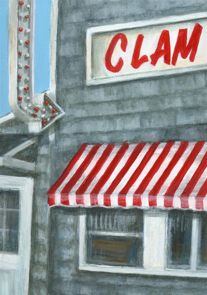"""Clam Box"" original fine art by Debbie Shirley"