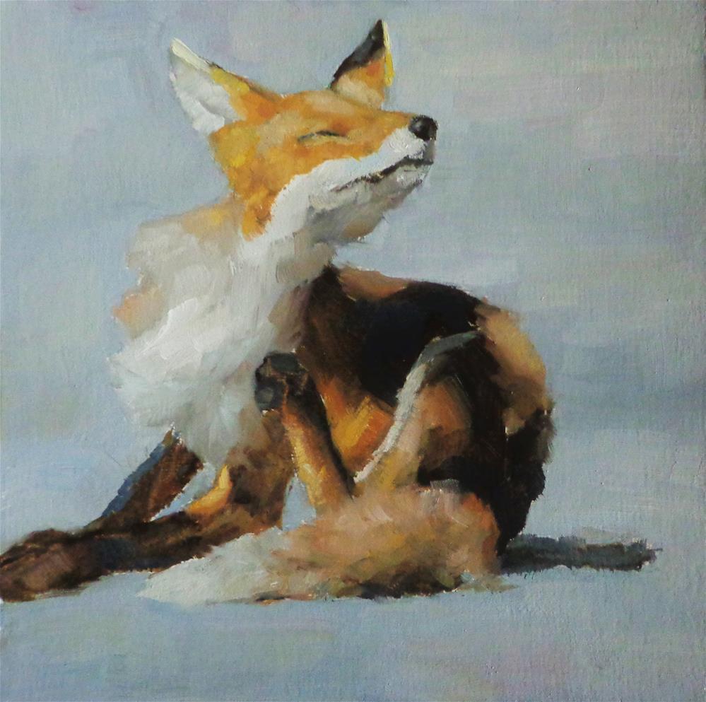 """Itch"" original fine art by Maria Z."