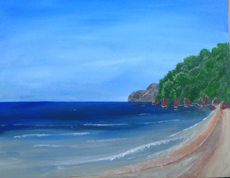 """Paradise"" original fine art by Brenda Smith"