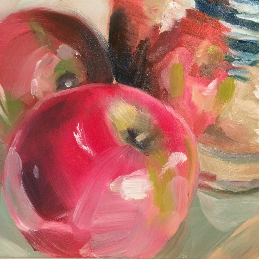 """Apples and Brass"" original fine art by Carol Stickley"
