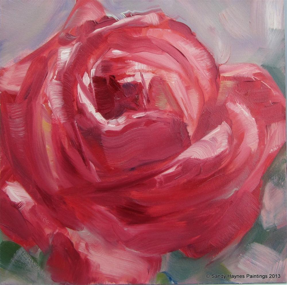"""Rose   #127"" original fine art by Sandy Haynes"