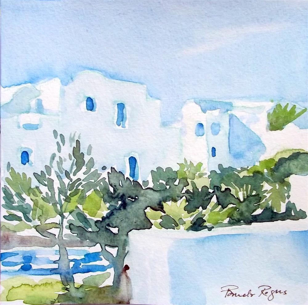 """""""Modern Minoan"""" original fine art by Pamela Jane Rogers"""