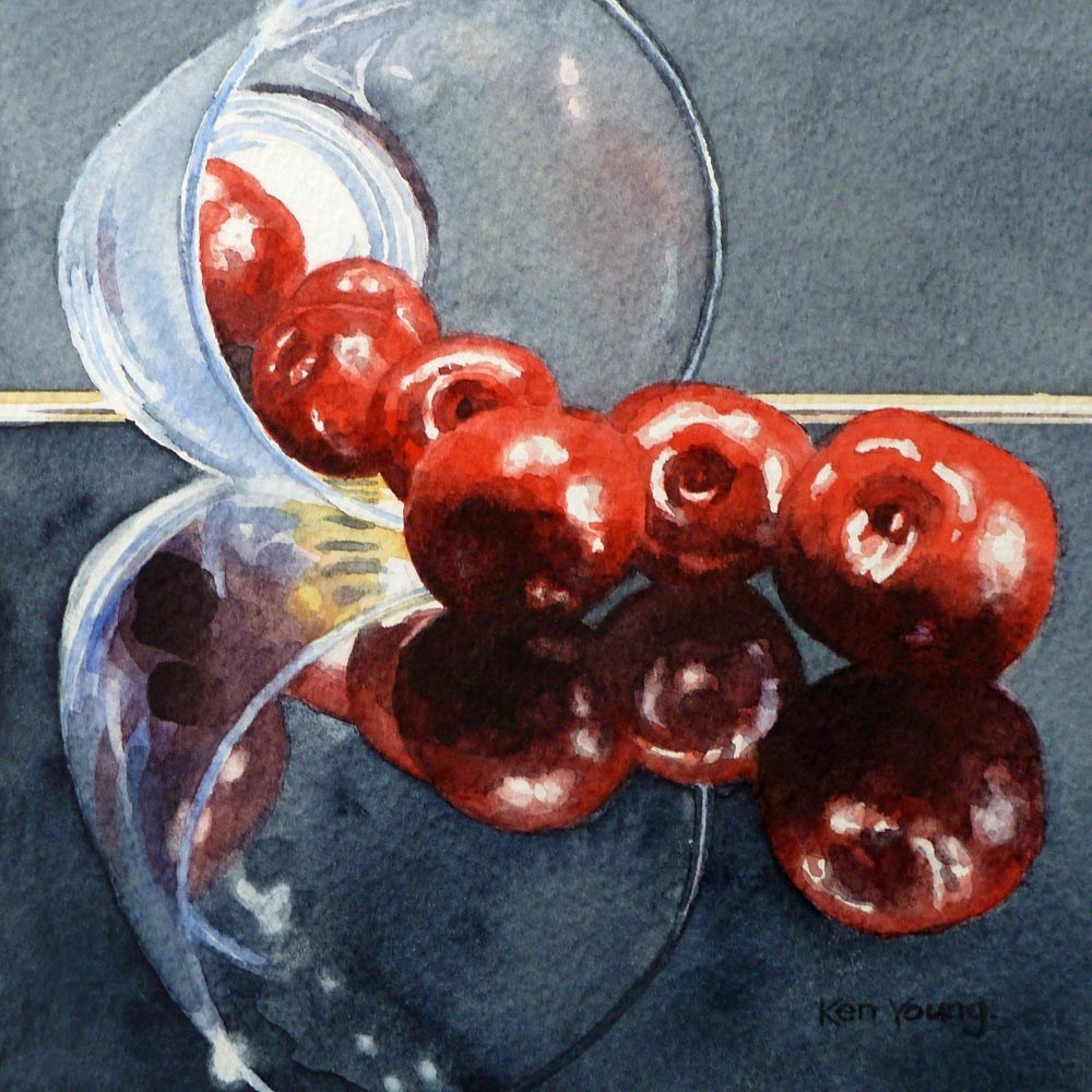 """Cherry Spill"" original fine art by Ken Young"