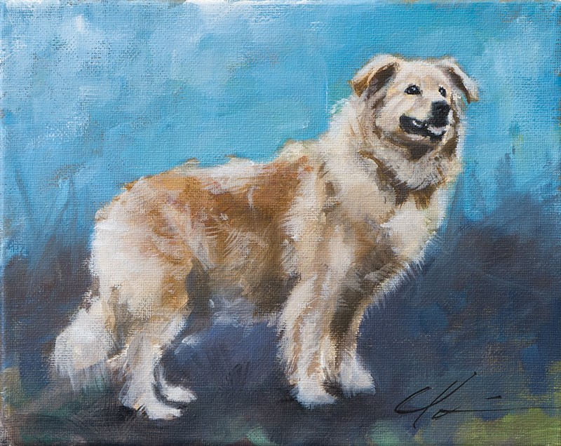 """PAINT MY DOG - Lucie"" original fine art by Clair Hartmann"