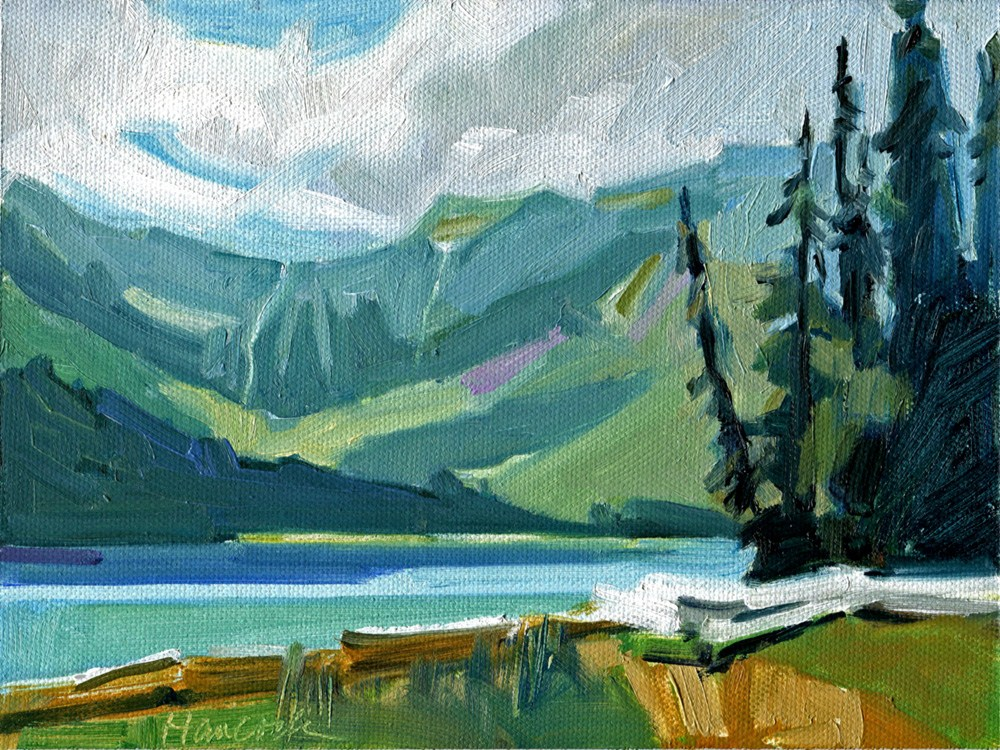 """Avalanche Lake"" original fine art by Gretchen Hancock"