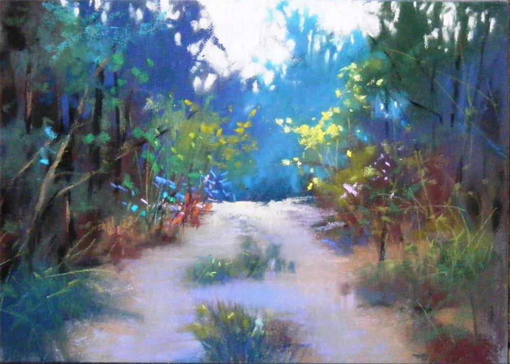 """Country road"" original fine art by Celine K.  Yong"