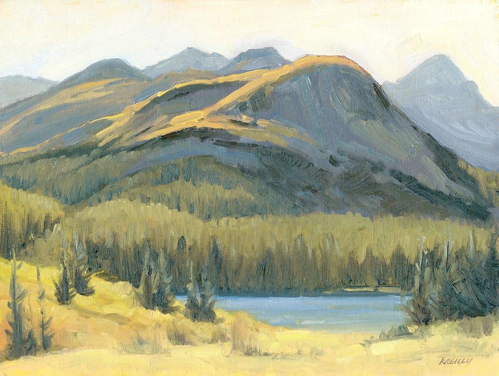 """Mountain Lake"" original fine art by Kath Reilly"