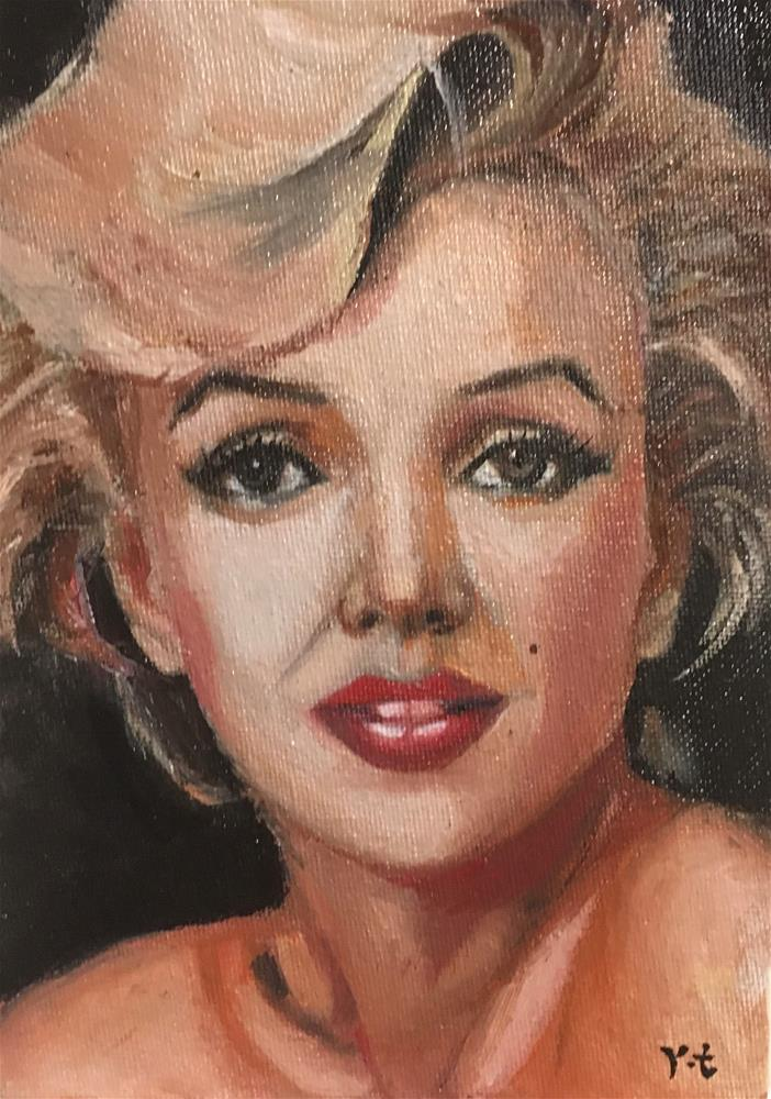 """Portrait of Marilyn Monroe 2"" original fine art by tian yin"