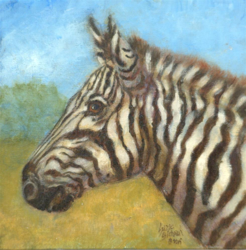 """Zebra at Fossil Rim"" original fine art by Carla Ridener"