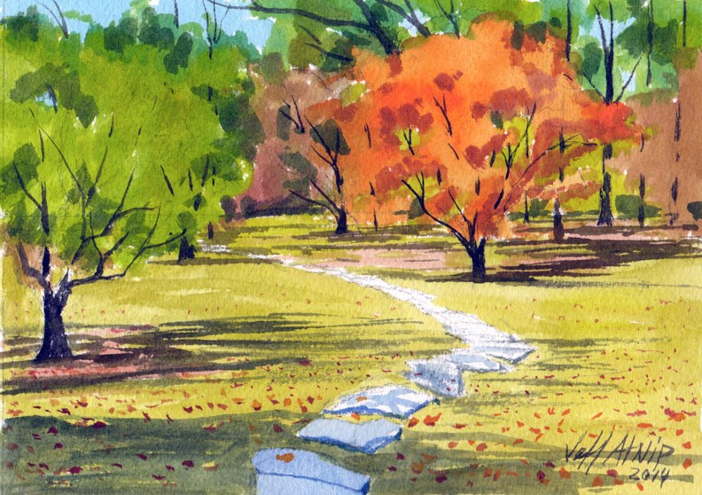 """Stone Path"" original fine art by Jeff Atnip"