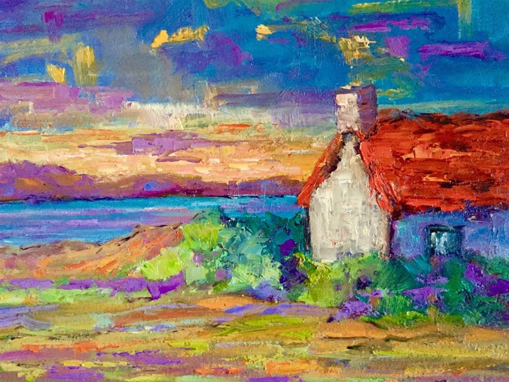 """Isle of Skye Sunset"" original fine art by Liz Zornes"