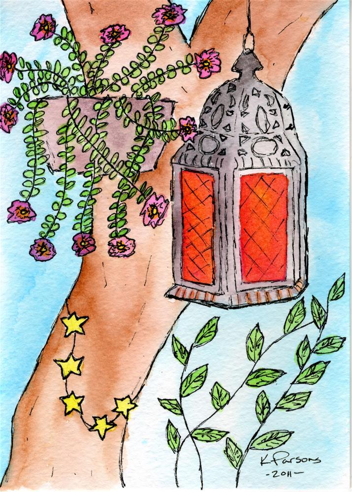 """""""Wonderlandia Lantern"""" original fine art by Kali Parsons"""