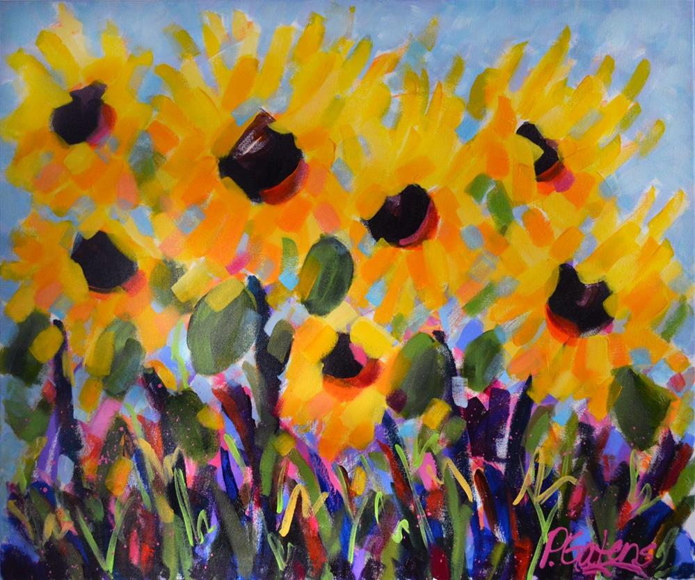 """Sunflower Valley"" original fine art by Pamela Gatens"
