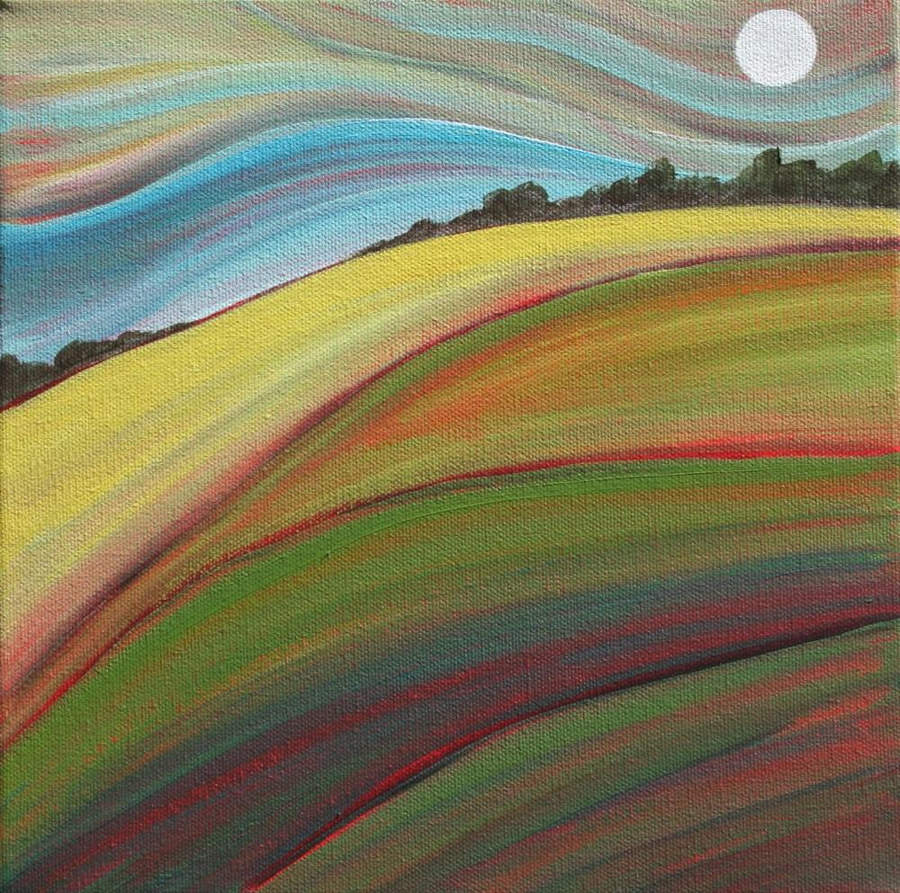 """An Early Moon"" original fine art by Sage Mountain"