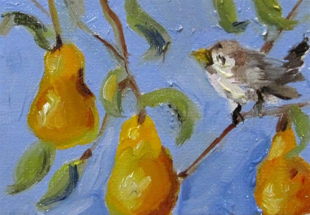 """""""Pear Tree Aceo"""" original fine art by Delilah Smith"""