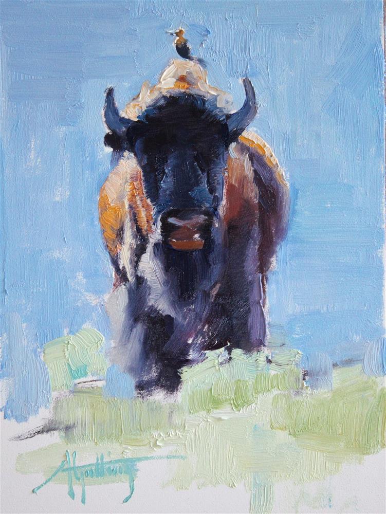 """Buffalo Study #3"" original fine art by Abigail Gutting"