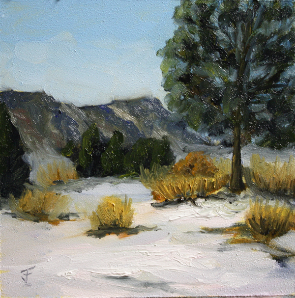 """Snow Field 2"" original fine art by Jane Frederick"