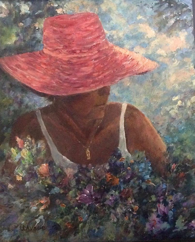 """Selfie in the Garden"" original fine art by Judy Usavage"