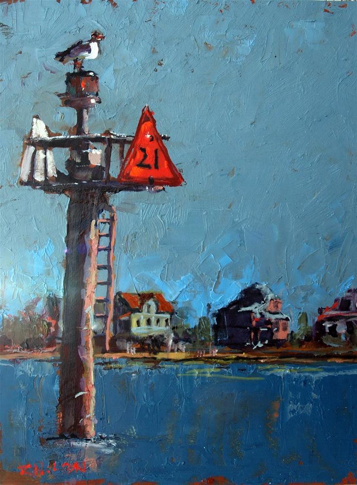 """Channel Marker"" original fine art by Rick Nilson"