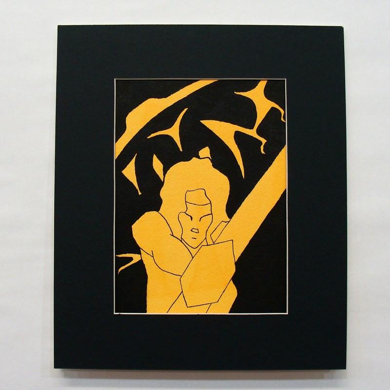"""Red Figure Amazon Study"" original fine art by Bonnie Fillenwarth"