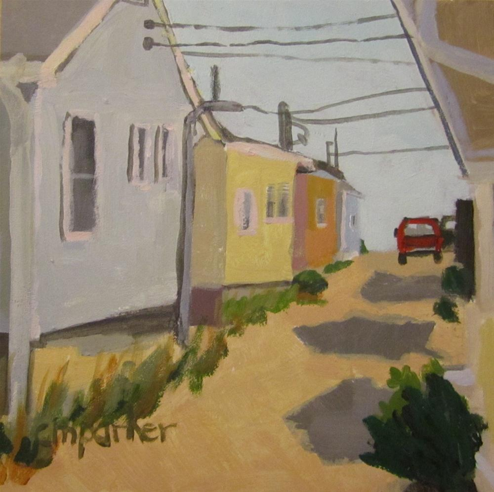 """NJ Beach Houses 3"" original fine art by Christine Parker"